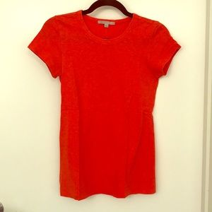 Orange short sleeved tee